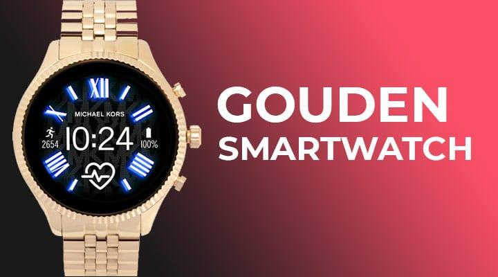 gouden smartwatch